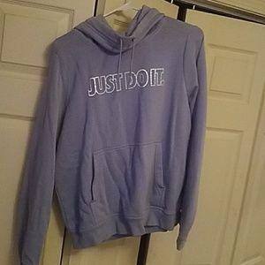 NIKE blueish sweatshirt/hoodie